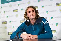 Rotterdam, The Netherlands, 12 Februari 2019, ABNAMRO World Tennis Tournament, Ahoy, Press Conference, Stefanos Tsisipas (GRC),<br /> Photo: www.tennisimages.com/Henk Koster