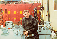 BNPS.co.uk (01202) 558833. <br /> Pic: Fellows/BNPS<br /> <br /> Pictured: Corporal Peter Melhuish. <br /> <br /> A former British Army diver is selling the wristwatch he wore during the raising of the Mary Rose for £26,000.<br /> <br /> Corporal Peter Melhuish, of the Royal Engineers, had the Rolex Submariner 5513 on when Henry VIII's famous warship was lifted from The Solent in 1982.<br /> <br /> He also wore the diver's wristwatch during operations off the Falkland Islands after Britain and Argentina went to war that year.<br /> <br /> Peter, from Tunbridge Wells, Kent, has owned the timepiece since 1979 and put it on regularly up until five years ago. Since then, it has been kept in his sock drawer and he has now decided to sell it with Fellows Auctioneers, of Birmingham.