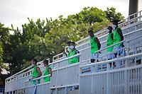 SAN ANDRES – COLOMBIA, 08-03-2020: Real San Andrés y Bogotá F.C. en partido por la fecha 13 del Torneo BetPlay DIMAYOR I 2020 jugado en el estadio Erwin O'Neil de la ciudad de San Andrés. / Real San Andres and Bogota F.C. in match for the for the date 13 as part of BetPlay DIMAYOR Tournament I 2020 played at Erwin O'Neil stadium in San Andres city. Photos: VizzorImage / Jesus Rubio / Cont