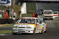 Round 10 of the 1991 British Touring Car Championship. #5 John Cleland (GBR). Vauxhall Sport. Vauxhall Cavalier. #44 Steve Soper (GB). BMW Team Finance. BMW M3.