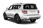 Car pictures of rear three quarter view of 2018 Nissan Armada Platinum 5 Door SUV Angular Rear