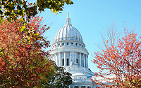 """""""Capitol in Color""""  Madison, Wisconsin  Capitol Square 