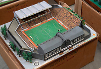 BNPS.co.uk (01202 558833)<br /> Pic: Zachary Culpin/BNPS<br /> <br /> Pictured: Newcastle United St James' Park is still around today<br /> <br /> An incredible collection of model football stadiums handmade by a soccer fan have sold for almost £19,000 after being found in a storage unit.<br /> <br /> Model-maker John Le Maitre created miniature versions of all 92 English Football League club grounds from the 1980s, as well as the old Wembley Stadium.<br /> <br /> They featured on a Blue Peter episode that year and are a throwback to a bygone age when football grounds with their banks of terraces looked very different to today's super stadiums.