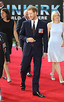 """Prince Harry<br /> at the """"Dunkirk"""" World Premiere at Odeon Leicester Square, London. <br /> <br /> <br /> ©Ash Knotek  D3289  13/07/2017"""