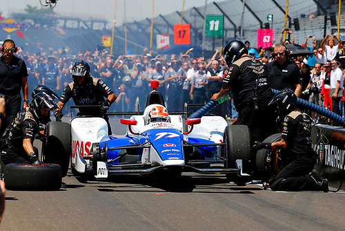 Verizon IndyCar Series<br /> Indianapolis 500 Carb Day<br /> Indianapolis Motor Speedway, Indianapolis, IN USA<br /> Friday 26 May 2017<br /> Jay Howard, Schmidt Peterson Motorsports Honda Pit Stop Competition<br /> World Copyright: Russell LaBounty<br /> LAT Images