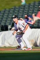 Peoria Chiefs first baseman Chris Chinea (12) during a game against the Dayton Dragons on May 6, 2016 at Dozer Park in Peoria, Illinois.  Peoria defeated Dayton 5-0.  (Mike Janes/Four Seam Images)