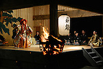 Noh, traditional Japanese musical theatre, is performed at the stage of a Shinto shrine in Sado Island.<br /> <br /> Noh, théâtre musical japonais traditionnel, est joué sur la scène d'un sanctuaire shinto de l'île de Sado.