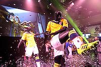 BOGOTA -COLOMBIA- 07 -11--2013. Ceremonia de presentacion  de la nueva camiseta que portara la seleccion Colombia de futbol de mayores en el mundial de futbol de Brasil 2014 / Ceremony of presentation of the new shirt that used the selection Colombia older soccer in the World Cup in Brazil 2014. (Photos: VizzorImage / Stringer