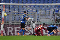 Gianluca Mancini of Roma scores the 2-2 goal during the Serie A football match between AS Roma and FC Internazionale at Olimpico stadium in Roma (Italy), January 10th, 2021. Photo Andrea Staccioli / Insidefoto