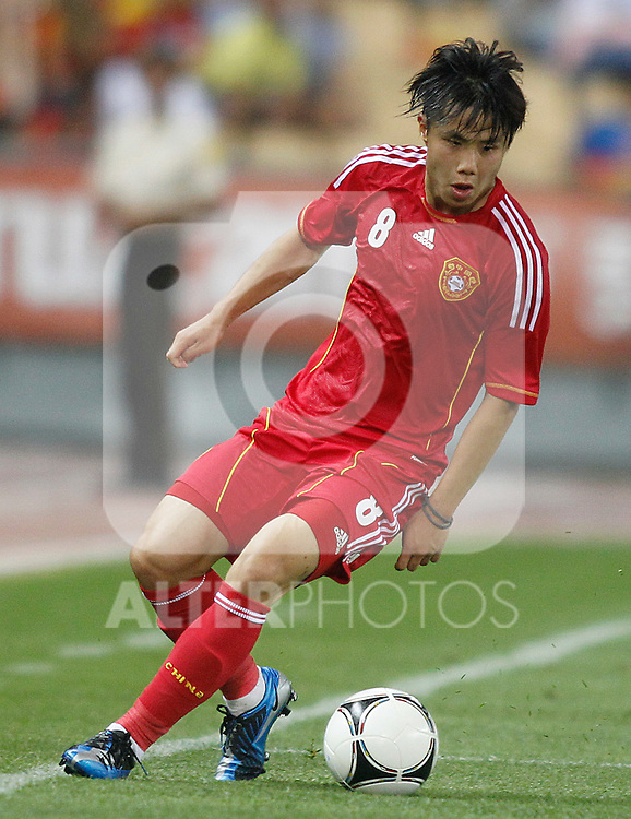 China's Junmin Hao during friendly match.June 3,2012.(ALTERPHOTOS/Acero)