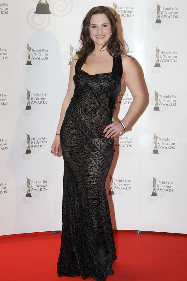 12/2/11 Ruth Bradley on the red carpet at the 8th Irish Film and Television Awards at the Convention centre in Dublin. Picture:Arthur Carron/Collins