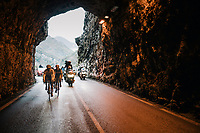 race leaders in to the tunnel<br /> <br /> 76th Paris-Nice 2018<br /> Stage 7: Nice > Valdeblore La Colmiane (175km)