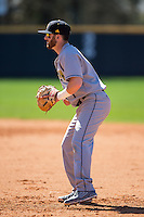 Kennesaw State Owls first baseman Chris McGowan (7) on defense against the Winthrop Eagles at the Winthrop Ballpark on March 15, 2015 in Rock Hill, South Carolina.  The Eagles defeated the Owls 11-4.  (Brian Westerholt/Four Seam Images)