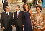 MARIA PAOLA E VITTORIO MERLONI CON ANTONIO FAZIO