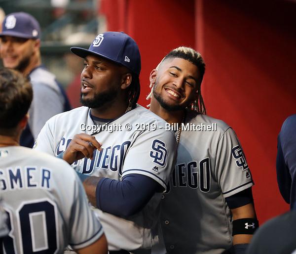 Franmil Reyes (left), Fernando Tatis Jr (right) - 2019 San Diego Padres (Bill Mitchell)