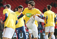 Alberto Paloschi of Swansea City warms up before the Barclays Premier League match between AFC Bournemouth and Swansea City played at The Vitality Stadium, Bournemouth on March 11th 2016