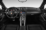 Stock photo of straight dashboard view of 2016 Porsche Cayman 3 Door Coupe Dashboard