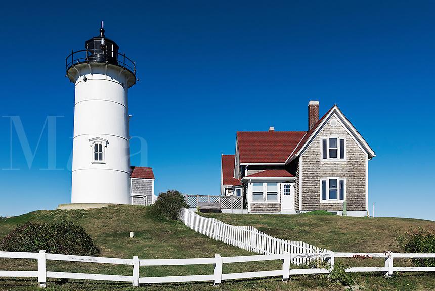 Nobska Point Lighthouse, Famouth, Cape Cod, Massachusetts, USA