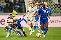 30th September 2021; Marshall Józef Piłsudski's Municipal Stadium, Warsaw, Poland: Europa League fooball, Legia Warsaw versus Leicester City;  MAHIR EMRELI, LUKE THOMAS