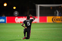 LAKE BUENA VISTA, FL - JULY 27: Nouhou #5 of the Seattle Sounders before the game during a game between Seattle Sounders FC and Los Angeles FC at ESPN Wide World of Sports on July 27, 2020 in Lake Buena Vista, Florida.