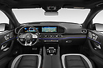 Stock photo of straight dashboard view of 2021 Mercedes Benz GLE AMG-63-S 5 Door SUV Dashboard