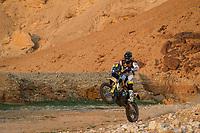 7th January 2021; Riyadh to Buraydah, Saudi Arabia; Dakar Rally, stage 5;  77 Benavides Luciano (arg), Husqvarna, Rockstar Energy Husqvarna Factory Racing, Moto, Bike, action during the 5th stage of the Dakar 2021 between Riyadh and Buraydah, in Saudi Arabia on January 7, 2021