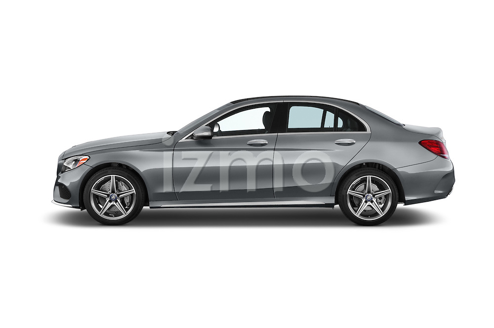 Car Driver side profile view of a 2018 Mercedes Benz C-Class C300 Sport 4 Door Sedan Side View