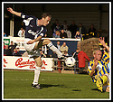 31/8/02       Collect Pic : James Stewart                     .File Name : stewart-falkirk v qots 11.ANDREW AITKEN BLOCKS THE SHOT FROM JOHN HENRY....James Stewart Photo Agency, 19 Carronlea Drive, Falkirk. FK2 8DN      Vat Reg No. 607 6932 25.Office : +44 (0)1324 570906     .Mobile : + 44 (0)7721 416997.Fax     :  +44 (0)1324 570906.E-mail : jim@jspa.co.uk.If you require further information then contact Jim Stewart on any of the numbers above.........