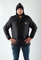 Pictured: Justin Tipuric of the Ospreys<br /> Swansea City FC and Ospreys RFC Christmas photo shoot at the Fairwood Trainining Ground, near Swansea, Wales, UK. 17 October 2017