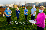 The Kerry Hospice Foundation Palliative Care launching their Long Good Friday virtual walk which will take place between St Patrick's Day and Good Friday on line. Front right: Maura O'Sullivan. Back l to r: Katie Galvin, Mags Clifford, Aine O'Connor and Dermot Cotter.