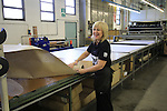 Rina cutting department Santini Factory, Lallio, Italy. 30th September 2015.<br /> Picture: Eoin Clarke | Newsfile