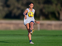ORLANDO, FL - JANUARY 21: Lynn Williams #6 of the USWNT crosses the ball during a training session at the practice fields on January 21, 2021 in Orlando, Florida.