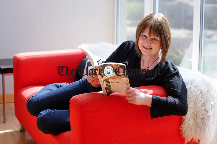 Author Helena Close, who has written her second novel entitled The Cut Of Love, pictured at home in Liscannor. Photograph by John Kelly.