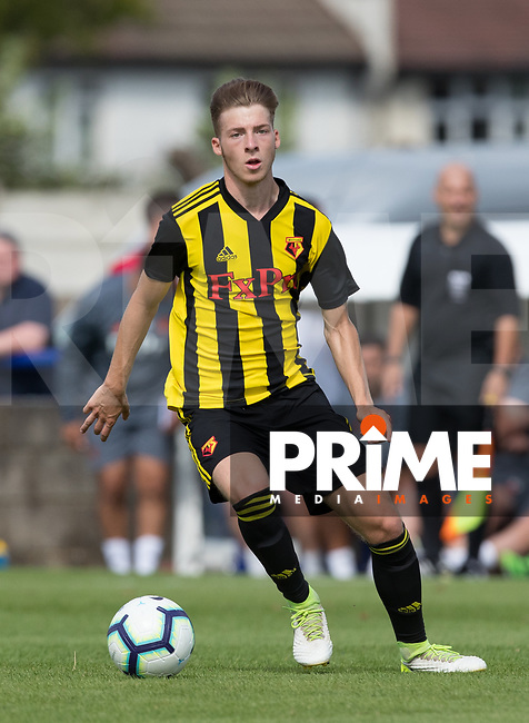 Ryan McClean of Watford during the Professonal Development League match between Watford U23 and Sheffield United U23 at The Maurice Rebak Stadium, Summers Lane, England on 17 August 2018. Photo by Andy Rowland.