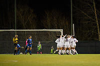Seattle, WA - Thursday, March, 08, 2018: A preseason match between the Seattle Reign FC and University of Washington at Husky Soccer Stadium.