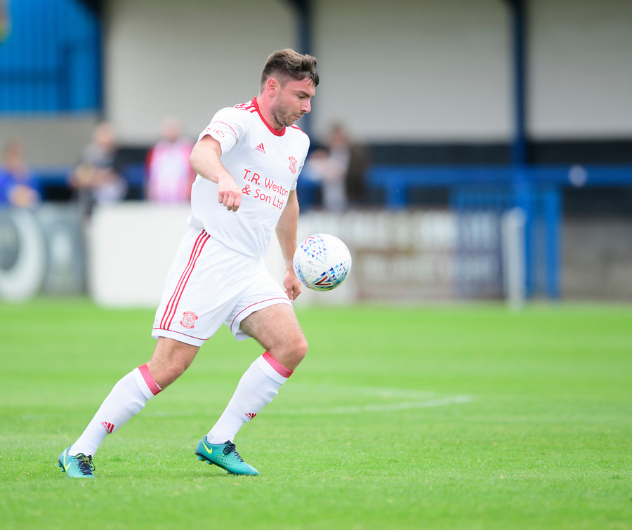 Lincoln United's Harry Millard<br /> <br /> Photographer Chris Vaughan/CameraSport<br /> <br /> Football Pre-Season Friendly (Community Festival of Lincolnshire) - Lincoln City v Lincoln United - Saturday 6th July 2019 - The Martin & Co Arena - Gainsborough<br /> <br /> World Copyright © 2018 CameraSport. All rights reserved. 43 Linden Ave. Countesthorpe. Leicester. England. LE8 5PG - Tel: +44 (0) 116 277 4147 - admin@camerasport.com - www.camerasport.com