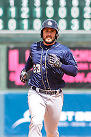 San Antonio Missions first baseman David Freitas (23) runs to third base during a Pacific Coast League game against the Iowa Cubs on May 2, 2019 at Principal Park in Des Moines, Iowa. Iowa defeated San Antonio 8-6. (Brad Krause/Four Seam Images)