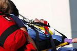 A victim on a ems cot