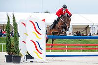 CZE-Miroslav Trunda rides Trnka-Ruf during the Showjumping. 2021 SUI-FEI European Eventing Championships - Avenches. Switzerland. Sunday 26 September 2021. Copyright Photo: Libby Law Photography