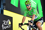 Green Jersey Peter Sagan (SVK) Bora-Hansgrohe at sign on before Stage 8 of the 2019 Tour de France running 200km from Macon to Saint-Etienne, France. 13th July 2019.<br /> Picture: ASO/Alex Broadway   Cyclefile<br /> All photos usage must carry mandatory copyright credit (© Cyclefile   ASO/Alex Broadway)