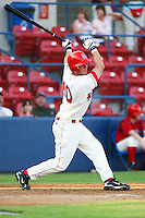 July 20th 2008:  Kyle Higgins of the Spokane Indians, Rookie Class-A affiliate of the Texas Rangers, during a game at Home of the Avista Stadium in Spokane, WA.  Photo by:  Matthew Sauk/Four Seam Images