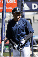 Apr 02, 2011; Bronx, NY, USA; New York Yankees outfielder Andruw Jones during game against the Detroit Tigers at Yankee Stadium. Yankees defeated the Tigers 10-6. Mandatory Credit: Tomasso De Rosa