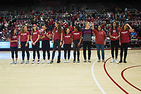 Stanford, CA - January 24, 2020: Women's Tennis Team at Maples Pavilion. The Stanford Cardinal defeated the Colorado Buffaloes in overtime, 76-68.