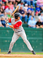 21 August 2010: Brooklyn Cyclones outfielder Kurt Steinhauer in action against the Vermont Lake Monsters at Centennial Field in Burlington, Vermont. The Cyclones defeated the Lake Monsters 8-7 in a 12-inning game that had to be resumed in Brooklyn on August 31 due to late inning rain. Mandatory Credit: Ed Wolfstein Photo