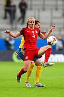 Gothenburg, Sweden - Thursday June 08, 2017: Becky Sauerbrunn, Lotta Schelin during an international friendly match between the women's national teams of Sweden (SWE) and the United States (USA) at Gamla Ullevi Stadium.