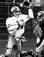 Bruce Threadgill Calgary Stampeders quarterback 1981. Photo Scott Grant