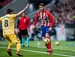 Lucas Hernandez (R) of Atletico de Madrid is tackled by Pere Pons Riera of Girona FC during the La Liga 2017-18 match between Atletico de Madrid and Girona FC at Wanda Metropolitano on 20 January 2018 in Madrid, Spain. Photo by Diego Gonzalez / Power Sport Images