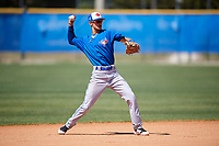 Toronto Blue Jays Kevin Vicuna (58) during a Minor League Spring Training Intrasquad game on March 14, 2018 at Englebert Complex in Dunedin, Florida.  (Mike Janes/Four Seam Images)