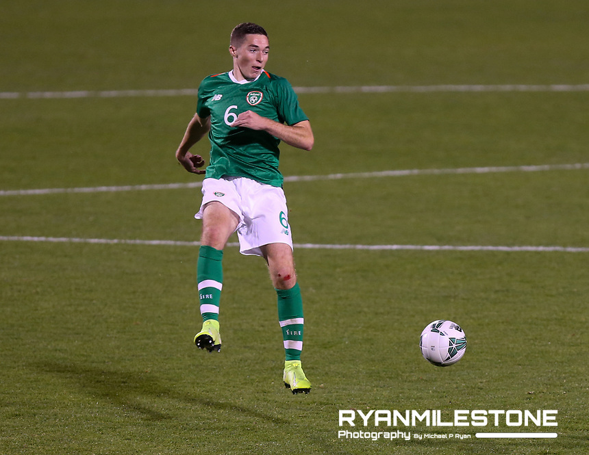 EVENT:<br /> UEFA European U21 Championship Qualifier Group 1 Republic of Ireland v Italy<br /> Thursday 10th October 2019,<br /> Tallaght Stadium, Dublin<br /> <br /> CAPTION:<br /> Conor Coventry of Republic of Ireland<br /> <br /> Photo By: Michael P Ryan