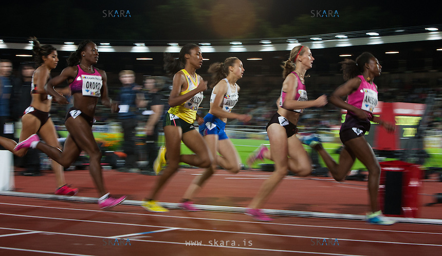 Runners in the 800m at the IAAF Diamond League meeting in Stockholm. SUM Eunice Jepkoech (KEN) came in first at 1:58.84.